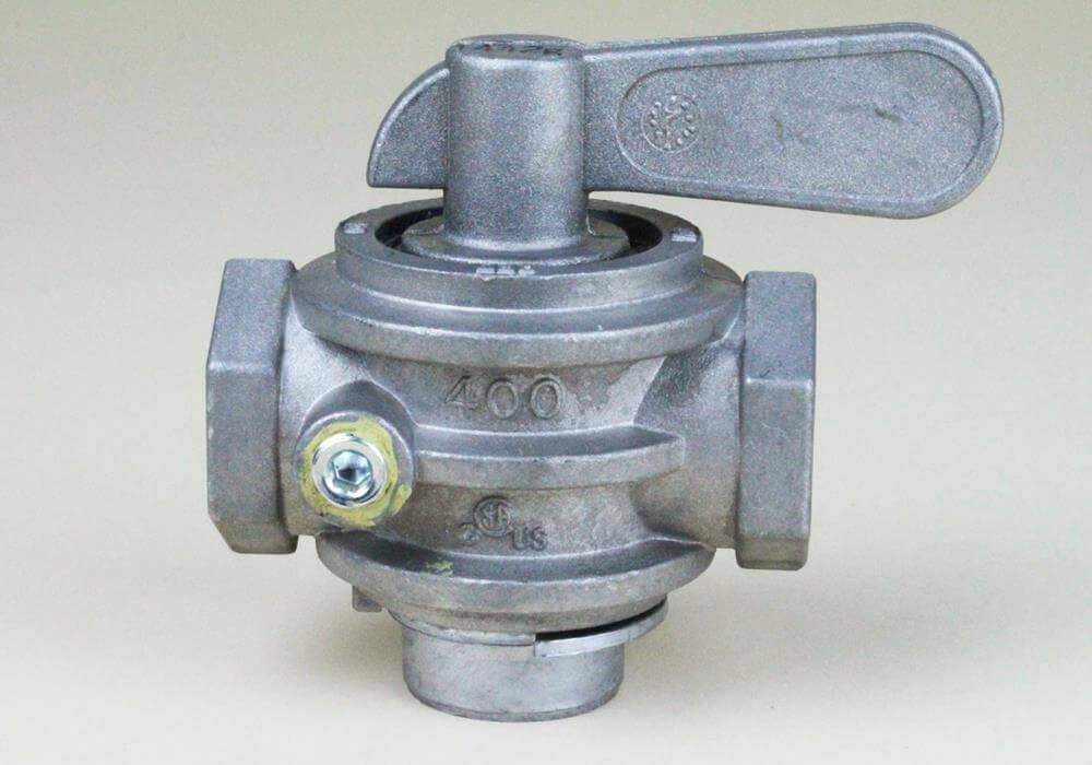 "Gas Valve 1"" Alum/Brass Manual"