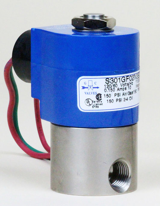 Water Solenoid Valve, N/C S301 | Pollution Control Products Co