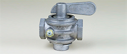 "Gas Valve 3/4"" Alum/Brass Manual"